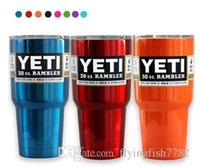 Wholesale 16 color Metallic color OZ Yeti snowman car Tumbler Rambler Cups Stainless Steel Tumbler Mugs Travel Vehicle Beer Mug