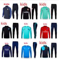 Wholesale New kids PSG Maillot de foot tracksuits survetement football shirts long sleeves tight pants sportswear PSG training suit soccer Uniforms