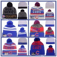 beach boys blue - 2016 Postseason World Series Champs Baseball Chicago Cubs Beanies Winter Beanie Men Women Skull Caps Skullies Knit Cotton Hats