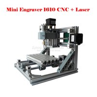 Wholesale mini CNC mw laser and CNC in engraving machine Pcb Milling Machine Wood Carving machine diy mini cnc router with GRBL control
