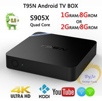 Wholesale T95N Mini M8S Pro Android TV Box S905X Quad Core Wifi Kodi16 G G Memory Smart Set top Box