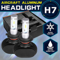 left.right automobile lights - 1 Pair CSP Chips K H7 Headlight Kits for Car Automobile H7 Led Headlight W Pair Fog Lamps Fan less Single Beam Car Bulbs