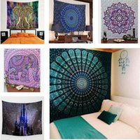 Printed art tapestries - Wall Decorative Hanging Tapestries Indian Mandala Style Bedspread Ethnic Throw Art Floral Towel Beach Meditation Yoga Throw Mat