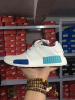 Unisex athletic shoes brands - 2017 Cheap Discount NMD R1 W quot Blue Glow quot Shoes Mens Women s Athletic Running sneaker Shoes Running Shoe Brand Boost With Box