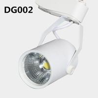 Wholesale 90LM W IC CC LED Track Lights COB W H AC V LED Track Lights with Degree for Shop