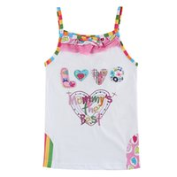 air condition suit - Girls slim children sling air conditioning suit vest Children Summer sleeveless shirt pajamas