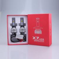 Wholesale NEW Super Bright X7 LED Headlight Bulbs Clear Arc Beam Kit w Lm K Cool White Hi Low Beam Bulbs