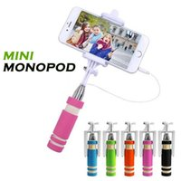 Wholesale Universal Mini Wired Selfie Stick Selfi Photo Extendable Selfy Monopod For All Cellphone