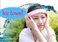 Wholesale Summer Cool Ice towel Cotton Cooling Towel with Sweet pattern cm Sweet Portable Sports Ice towel for outdoor beach sports