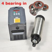 air bearing spindles - FOUR BEARING KW AIR COOLED ER20 SPINDLE MOTOR AND MATCHING ENGRAVING MILLING GRIND MATCH VARIABLE FREQUENCY DRIVE INVERTER