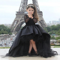 Cheap Girl girls formal dresses Best Bow Tulle black girl dresses