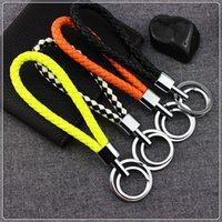 audi keyfob - Hot sales Fashion Leather Strap Weave Rope key chain keychain keyring key holder keyfob keybuckle pocket tools