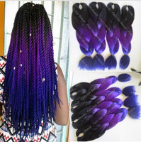 Wholesale New Arrival ombre kanekalon jumbo braid in folded three tone color synthetic xpression hair extensions