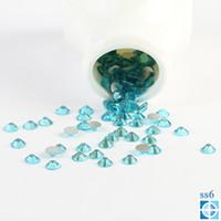 aquamarine nails - Beyond Better ss6 mm Aquamarine Flat Back d Nail Art crystal decorations Non Hot Fix Glue on Rhinestones
