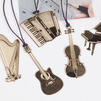 Cheap Metal stationeries Best Musical Instrument Bookmark stationery organizer
