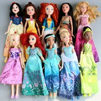 belle fingers - Princess Animators Sharon Doll Princess Sofia long hair Snow White Ariel Rapunzel Merida Cinderella Aurora Belle Princess dolls