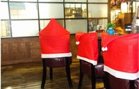 big dining tables - Christmas Santa Claus dining table decorative items non woven big hat