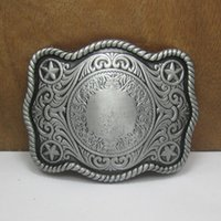 belt buckles blanks - BuckleHome blank belt buckle with pewter and antique brass finish FP with continous stock