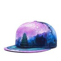 Новая мода огрызнуться Бейсболки Street Dance DJ Прохладный Hip Hop Caps 3D Печатный Snapback башня шаблон Шляпы Bone 5 Панель