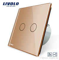 Wholesale LS05 Livolo Touch Remote Switch Gangs Way AC V LED Indicator VL C702SR Mini Remote Not Included VL C702SR