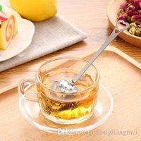 Wholesale tea tool pc quot Tea Time quot Heart Tea Infuser Heart Shaped Stainless Herbal Tea Infuser Spoon Filter I