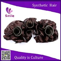 Wholesale fashion sexyd dark brown synthetic braids Roller Hairpieces Synthetic Hair Elegant chignon bun hairpiece perucas