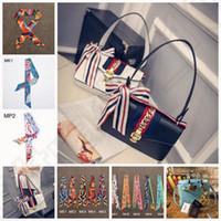 Wholesale Women Scarves Twilly Ribbon Tied Bag Handle Fashion Wraps Hair Bands Bandanas Decoration Ribbon Scarf OOA942