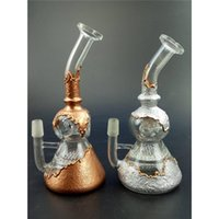 Wholesale WP263 glass pipes percolator faberge egg glass dome bong honeycomb with gold and silver color smoking water bong