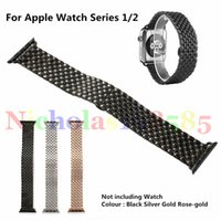 ball watch straps - 2016 Newest Stainless Steel Strap Watchband Dragon Ball Small Particl Butterfly Bracelet For Apple Watch Sport Edition VS Silicone Milanese
