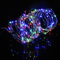 battery operated leds - 2M LEDS AA Battery Power Operated LED Copper Wire String Lights Fairy Party Holiday Christmas New Year Daily Decoration Lights
