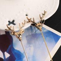 Wholesale Stereo deer head plug suit Brooch Retro brooch brooch and moose