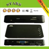Wholesale Mini Full HD Media multimedia Player Autoplay p USB External HDD SD U Disk Media Player With HDMI VGA AV Output FOR MKV RMVB