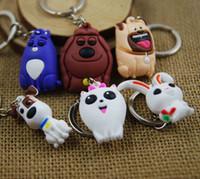 Wholesale Hot Sale set x2 cm The Secret life Of Pets Max Chloe Snowball Bulldog PVC Keychain Pendant