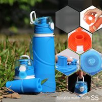 Wholesale Foldable Water Bottle Silicone Sports Water Bottles Factory Directly Supply leak proof bpa free roll up silicone water bottle
