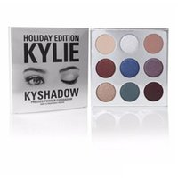 Wholesale In stock new Kylie Jenner Holiday edition Kyshadow THE BURGUNDY PALETTE Kylie eyeshadow Palette Bronze Cosmetic Colors