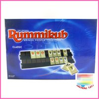 Wholesale Travelling Version Classic Board Game Original Digital Game Israel Mahjong Rummikub The Fast Moving Rummy Tile Family Game toy DHL E1768