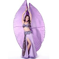 Wholesale Angle Wings Egyptian Egypt Belly Dance Costume Accessories Isis Wings Indain Dance Stage Wear For Adult No Stick ZA1635