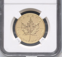 Wholesale Verified Canada maple of leaf one troy Ounce fine gold coin graded MS70 and sealed in original case