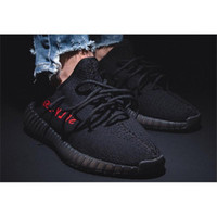 Wholesale Cheap CP9652 BLACK RED BOOST V2 BRED V2 WEST SNEAKERS KIDS OUTDOOR SPORT SHOE WITH BOX REAL BOOST CP9652 SIZE9