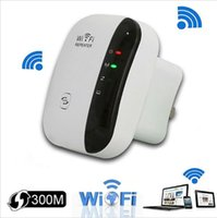 al por mayor amplificador de señal de la red-Wireless Wifi Repetidor 300Mbps 802.11n / b / g Red Wifi Extender Señal Amplificador Internet Antena Señal Reforzador Repetidor Wifi