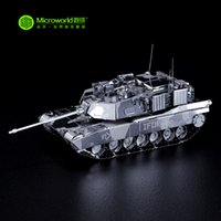 abrams tank model - Microworld D Metal Puzzle US M1 Abrams Tank Building Model T001 DIY D Laser Cut Assemble Toys