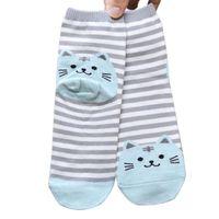 amazing cat - Dec Amazing Pair D Animals Striped Cartoon Cat Socks for Women Cotton Sock Spring Summer and Autumn
