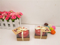 Wholesale FedEx Express Christmas Eve creative simulation Apple candle simulation fruit birthday Christmas with box package wholsales as gift
