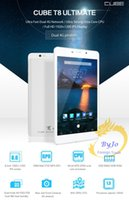Wholesale Newest Cube T8 Plus Dual G Phone Call Tablet PC Octa Core GB RAM GB ROM inch Android MTK8783 IPS Screen GPS