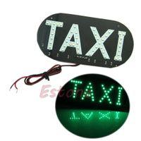 auto cab - HOT PC V Auto Vehicles Car LED Windscreen Cab Sign Taxi Green Light Lamp