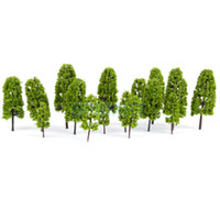 Wholesale New Arrivals HO Scale sizes Model Pine Trees Model Railroad Diorama Light Green HOT SALE