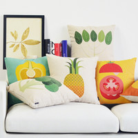 beans tomatoes - Gradient pineapple Bean sprout Pink morning glory Butterfly Setaria throw pillow Yellow pepper blueberry pumpkin giraffe tomato sofa cushion