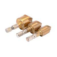Wholesale 3pcs Flute Degree Edge Chamfer Countersink Drill Bit End Mill Cutter Hand Tool Electric Drill Drill Bit Hex Shank BI182