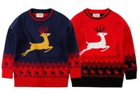 baby boy christmas sweaters - 2016 New Warm Winter Boys Christmas ELK Deer Cotton Knitted Sweater Baby Sweater Cardigan Baby Boys and Girls Deer Printed Outwear clothing