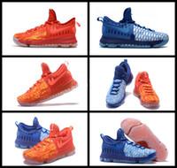 Kd chaussures hommes taille 12 France-2017 Nouveauté KD 9 Fire Ice EP Chaussures de basket-ball pour homme Kevin Durant 9s Sports Sneakers à vendre nous Taille 7-12 Freeshipping